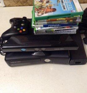 Xbox360 с kinect и 8 игр
