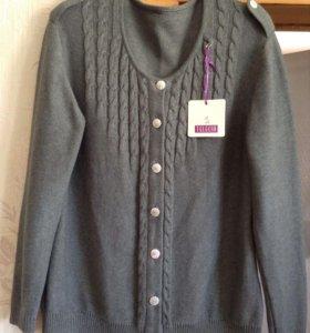 Кардиган женский.52-54 пальто,блузка новые