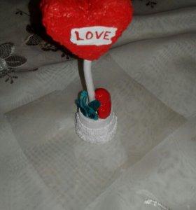 Сердечко топиарий Love.