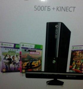 Xbox 360 E 500 gb+kinect