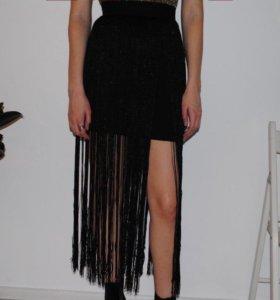 юбка с бахромой hm