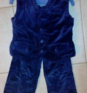 Новый костюм бархатный для мальчика110см