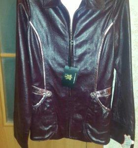 Кожанная куртка для девочки