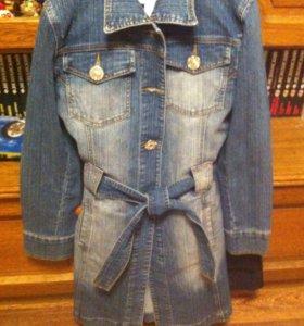 Пальто джинсовая