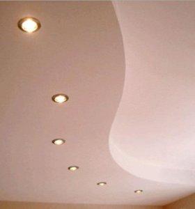 Гипсокартонные потолки перегородки и тд...