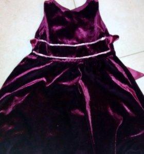 Новое платье бордо на 2-3 года