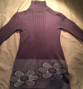 тёплый удлиненный свитер