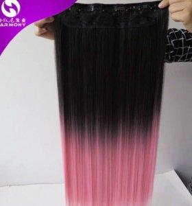 Волосы на заколках мелированные в наличии
