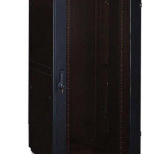 Cерверный шкаф напольный 33U черный - стекло
