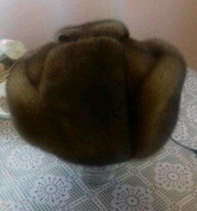 Шапка ушанка норковая