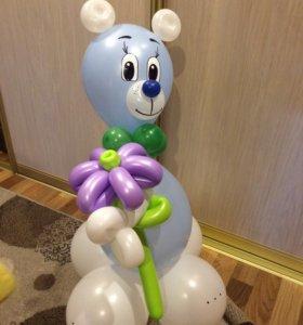 Мишка с ромашкой