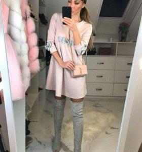 Новое розовое платье