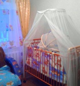 Кроватка детская 2 в 1