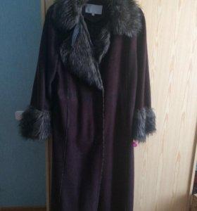Пальто зимнее, под дубленку, р-р 50