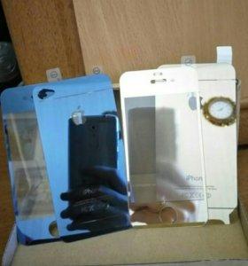 Стекло на iPhone 4s 2комплекта