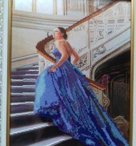 Картина Девушка в синем