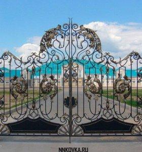 КОВАННЫЕ решётки, лестницы, ворота, балконы,