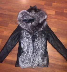 Куртка жилетка чернобурка