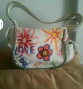 Кожаная сумка braccialini, италия