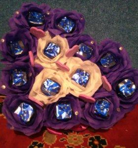Валентинки из канфет