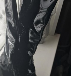 Сапоги чёрные лаковые 36 размер