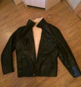 Куртка из натр. кожи и меха