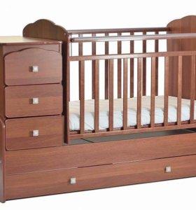 Кровать-трансформер детская маятниковая