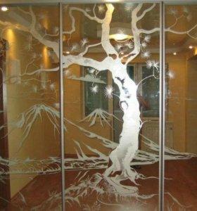Резка стекла и зеркала.