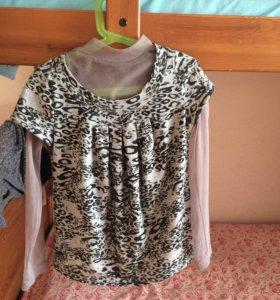 Блузка с кофточкой-паутинкой
