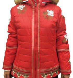 Красный горнолыжный костюм