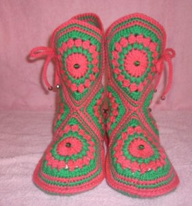 Носки вязаные крючком