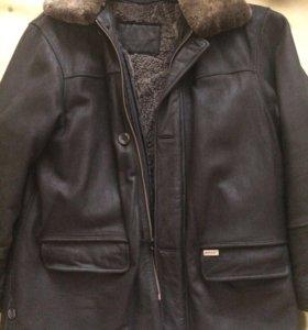 Кожаная мужская куртка Hugo Boss
