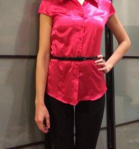 Блузка ярко розовая , xs