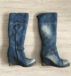 Сапоги джинсовые (Новые)