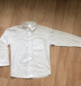 Белая рубашка 110-120