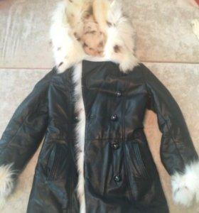 Зимняя натуральная Курта с мехом