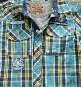 Рубашка 2в1 на 8-9 лет