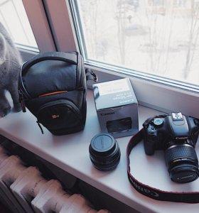 Canon EOS 550D + объективы + аксессуары