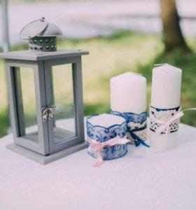 Свечи для декора свадьбы