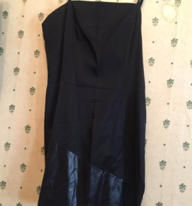 Платье Versace кожа