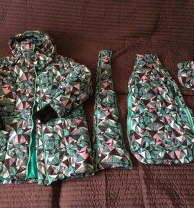 Зимняя куртка для беременных и слинга