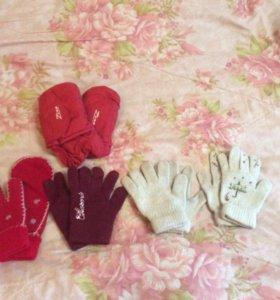 Перчатки/варежки на девочку
