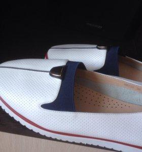 Туфли слипоны женские натуральная кожа