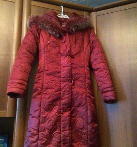 Зимнее пальто пуховик на синтепоне