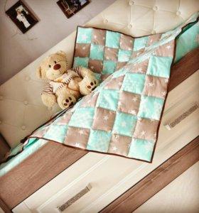 Лоскутное одеяло, бортики в кроватку