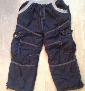 Тёплые болоневые штаны