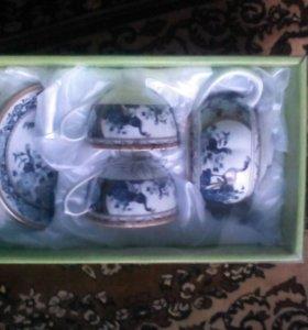 Чайный набор Павлин (новый)