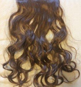 Волосы на заколке новые!