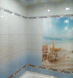 Туалет, ванная пластиковыми панелями