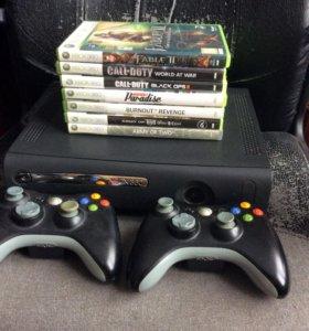 Xbox 360 с играми и дополнениями